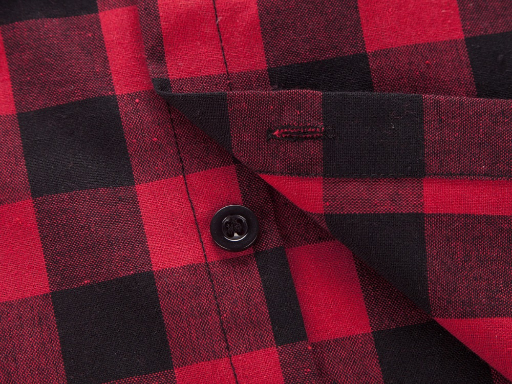 Red And Black Plaid Shirt Men Shirts 19 New Summer Fashion Chemise Homme Mens Checkered Shirts Short Sleeve Shirt Men Blouse 7