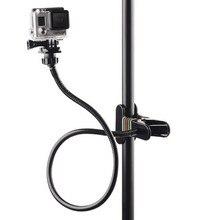 Çene Esnek Kelepçe Kolu GoPro Hero 5 4 3 Eken Gooseneck tripod bağlama aparatı Boyun Klip Işkembe Için Git Pro SJ4000 xiaomi Yi 4 K Aksesuarları
