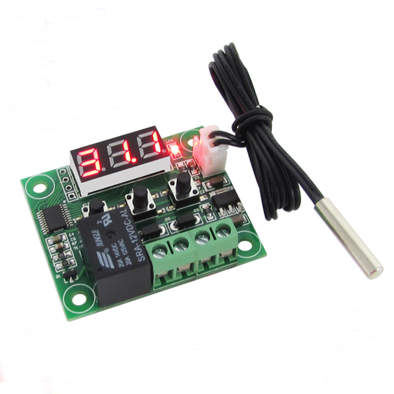 W1209 Digital LED Thermostat Control Switch Module Display Temperature On/Off Controller Board DC 12V + NTC Sensor Thermo Board dc 12v led display digital delay timer control switch module plc automation new