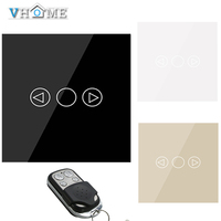 Vhome EU UK RF 433MHZ Remote Dimmer Switch Wall Switch Glass Panel Wall Light Touch Dimmer