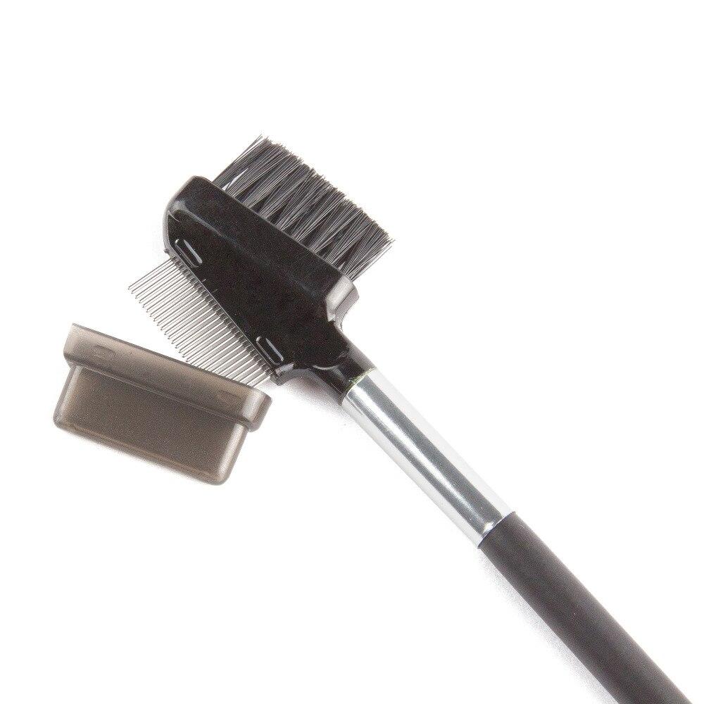 100Pcs Metal Stainless Steel Eyelash Makeup Brush Eyelashes Extension Eyebrow Dual Comb Brush Eye Lashes Beauty Cosmetic Tools daily life eyebrow extension kits making up tools for eyebrow
