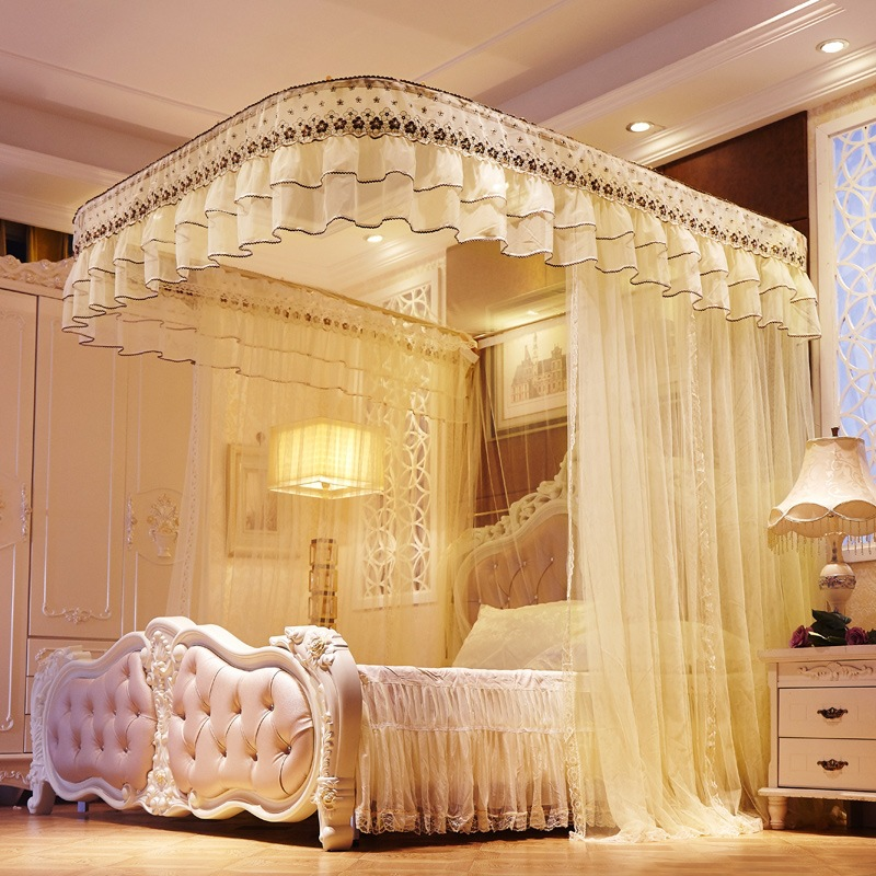 Lace MOSQUITO NET Extra Large for Twin Queen and King Size Bed Canopy for Bed Quick and Easy Installation Insect Fly Protect