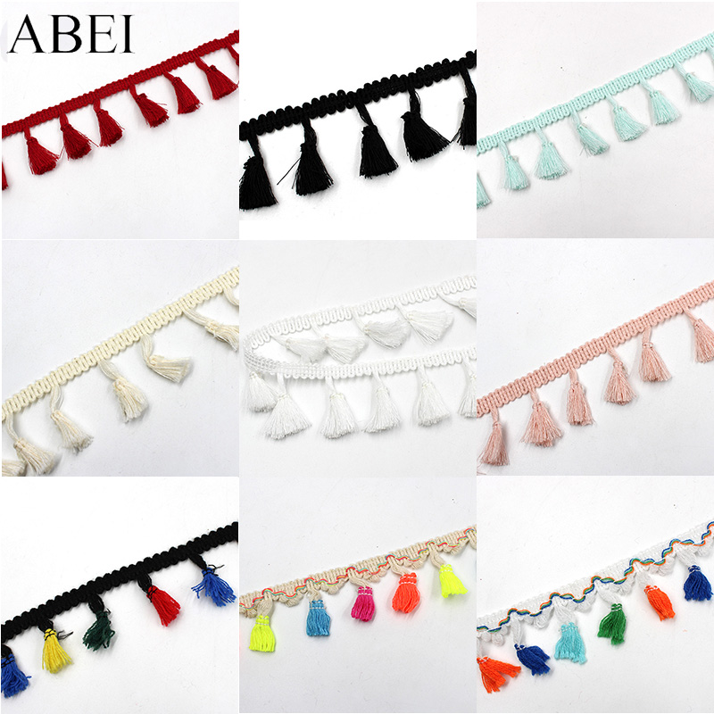 5yards/lot Rainbow Tassel Lace Ribbon Fringe Drop Lace Trims DIY Wedding Party Crafts Handmade Sewing Curtain Clothes Accessory