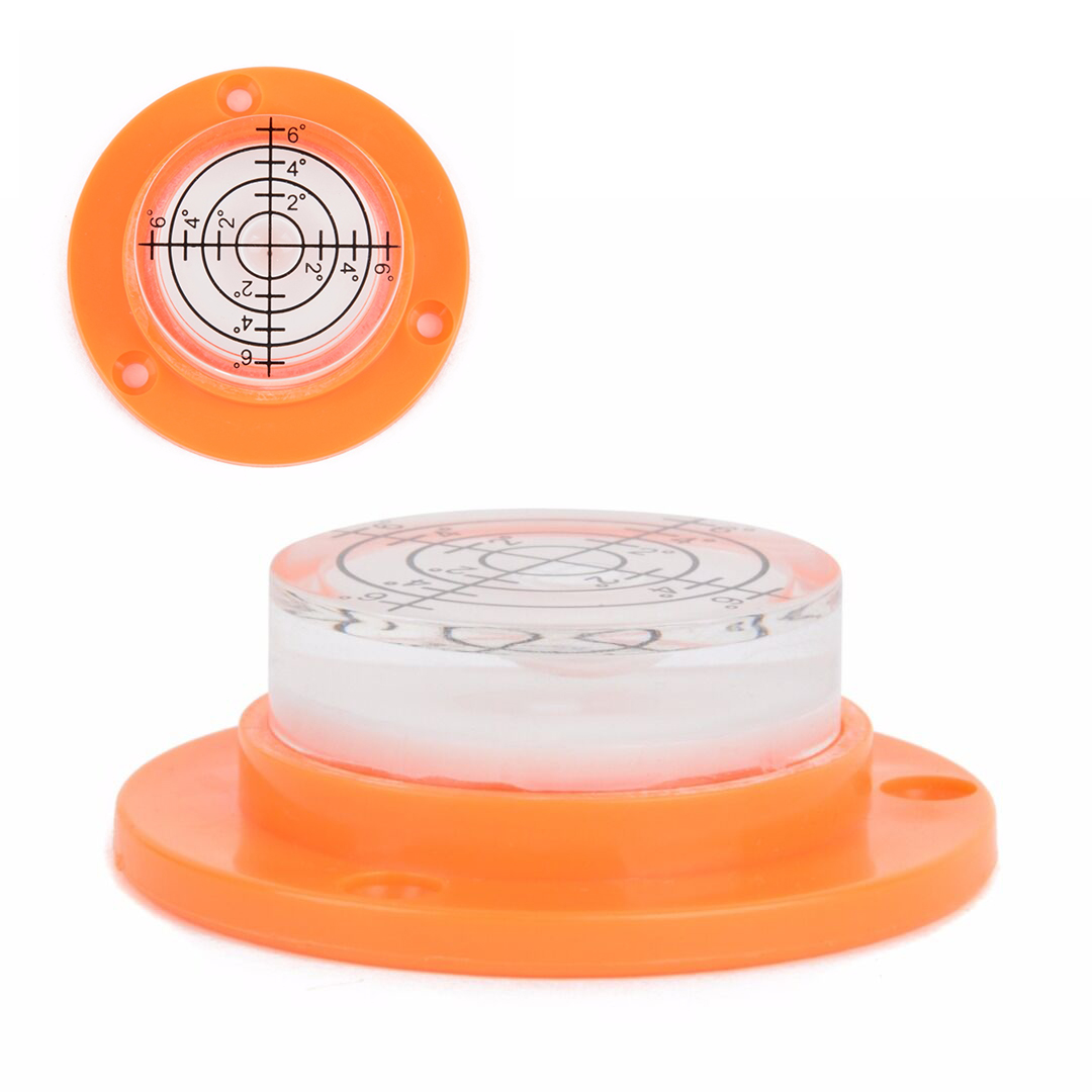 1pc Diameter 50mm Disc Round Level Bullseye Bubble Spirit level Circle Circular Tripod Bullseye 50 x17mm Measuring Instrument circle