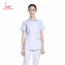 Summer white lab coat laboratory scientific research institute cosmetic oral nurse uniform work split