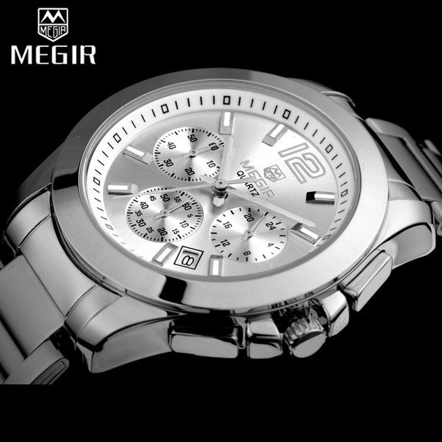MEGIR 女性の恋人腕時計トップの高級ブランド女性クロノグラフ時計エレガントな古典的な女性時計ガールクォーツ腕時計新 5006