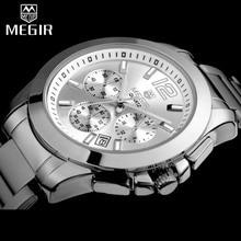 MEGIR נשים מאהב שעון יד למעלה יוקרה מותג נקבה הכרונוגרף שעונים אלגנטי קלאסי ליידי שעון ילדה קוורץ שעונים חדש 5006