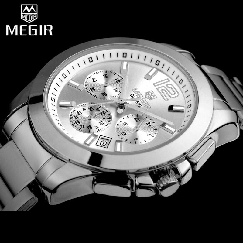 Prix pour Megir femmes amant montre-bracelet top marque de luxe femme chronographe horloges élégant classique lady horloge fille montres à quartz cadeau