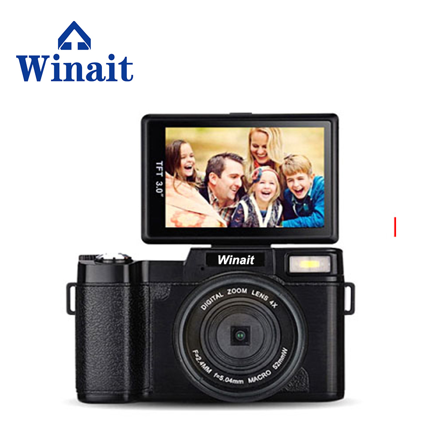"Free shipping winait max 24mp digital camera full hd 1080p with 3.0"" TFT display"