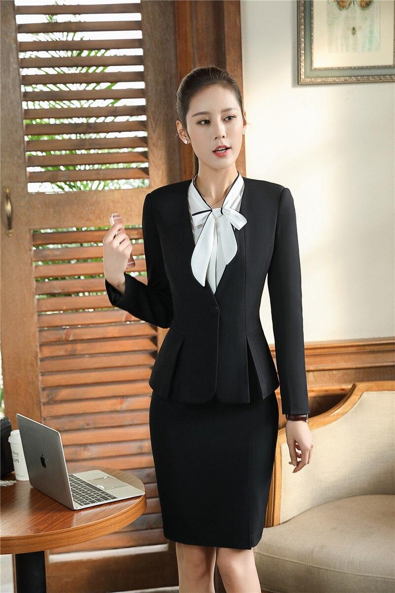 5a743a0ad54d0 Formelle Vestes Élégant Taille Ol Avec De D affaires Styles Costumes Jupe  Blazers Plus Blazer La Et Dames Pour Black Hiver Automne ...