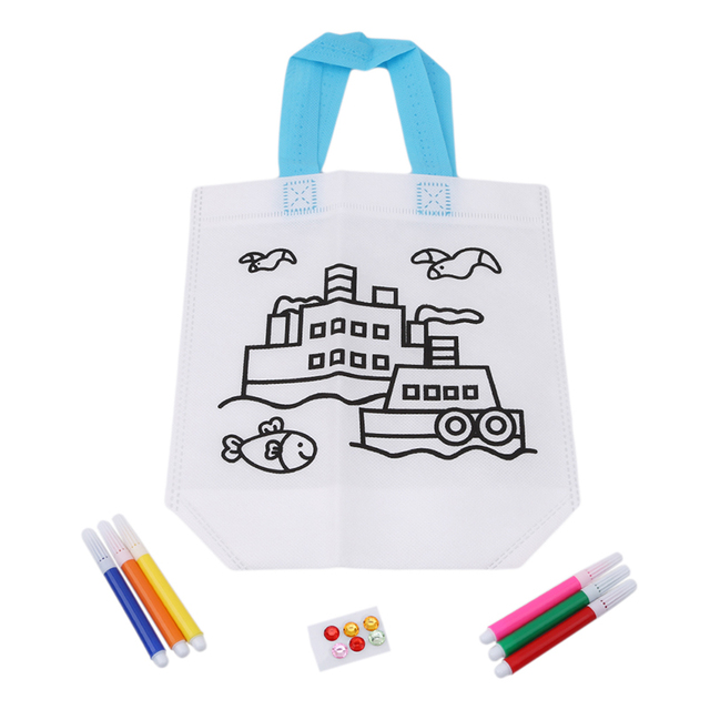 New Kids Boy Girl DIY Drawing Craft Color Bag Children Learning Educational Drawing Toys with Safe Non-toxic Water Pen Gifts