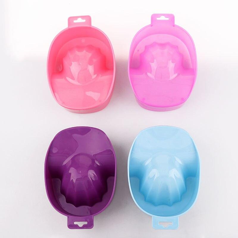 1Pc 16x12x5cm Cute 4 Color Nail Art Hand Wash Remover Soak Bowl DIY Salon Nail
