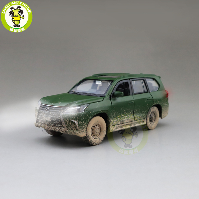 1/32 JACKIEKIM LX570 SUV Diecast Model CAR Toys for kids Sound Lighting Pull Back Car Boy Girl gifts