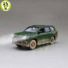 1/32 JACKIEKIM LX570 SUV Diecast דגם רכב צעצועים לילדים קול תאורה למשוך בחזרה רכב ילד ילדה מתנות