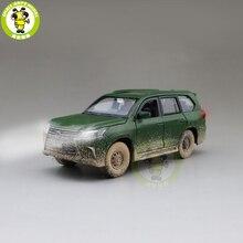 1/32 Jackiekim LX570 Suv Diecast Model Auto Speelgoed Voor Kids Geluid Verlichting Pull Back Auto Jongen Meisje Geschenken