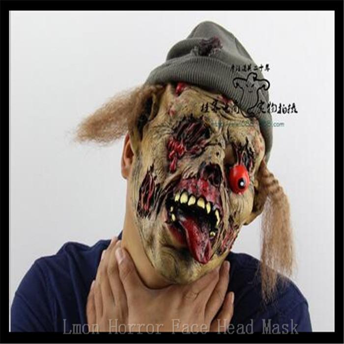 Pulsuz çatdırılma Party Cosplay Zombie maskası lateks qanlı - Şənlik aksesuarları - Fotoqrafiya 2