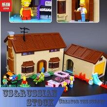 Lepin 16005 Véritable Créateur Série Le Simpsons famille Kwik-E-Mart Ensemble Blocs de Construction 2575 Pcs Briques