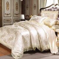 fc6a5c2607 Jacquard Bedding Set King Queen Size Luxury European Duvet Cover Sets 4PCS  Wedding Bed Sets Duvet. Jacquard Jogo de cama ...