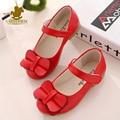 Crianças Moda primavera Sapatos Sapatos Meninas Princesa Sapatos Crianças Arco Antiderrapante Sapatilhas Bonitas Sandálias de Verão Sólida Outono Sapatos Único