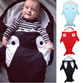 Cartoon shark sleeping bags newborn baby carriage winter bedding warm pretty Sleepsacks cotton soft Sleepsacks