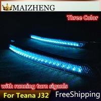 Car 12V LED DRL Daytime Running Light For Nissan Teana J32 2008 2009 2010 2011 2012 2013 Running Turn Signal with blue color