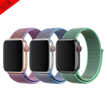 NEW sport strap for apple watch band 4 42mm 38mm correa double-layer nylon weave watchband for iwatch 3/2/1 44mm 40mm bracelet(China)