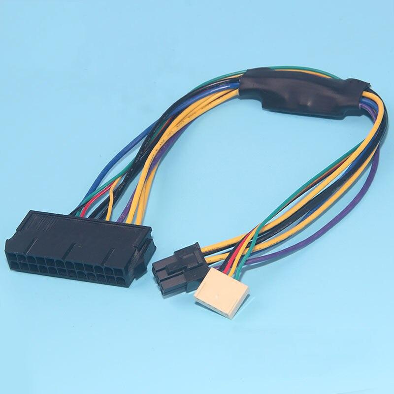 ATX 24pin a motherboard 2 puerto 6pin cable de alimentación adaptador para HP Z220 Z230 SFF Mainboard Server estación 30 cm