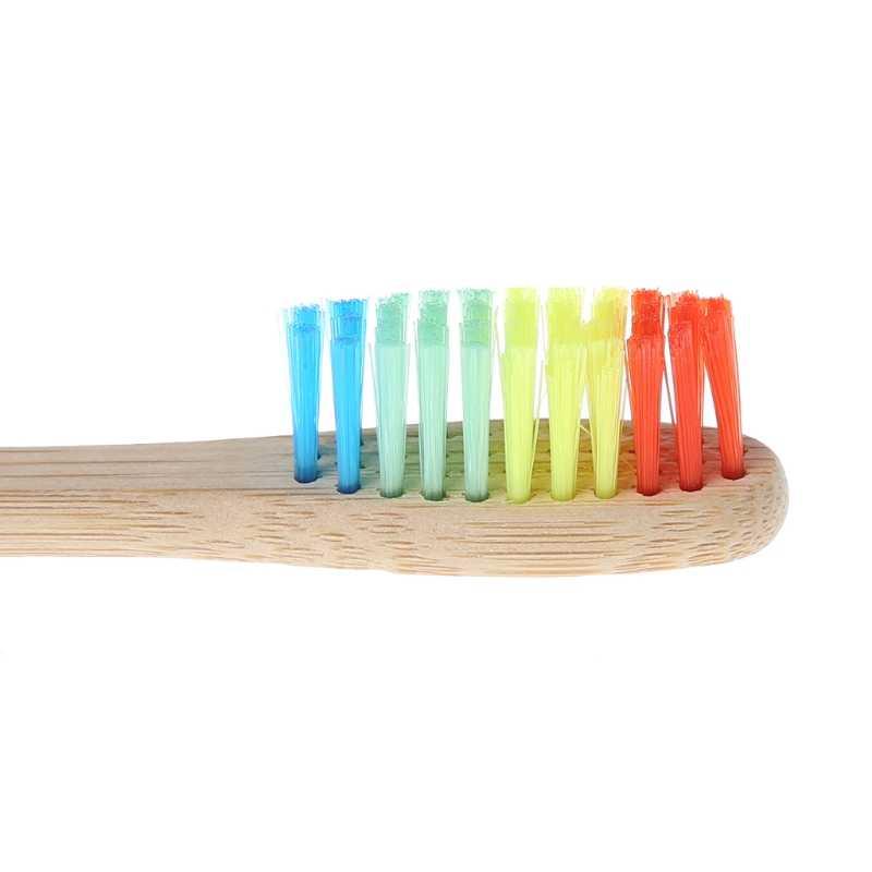 Pielęgnacja jamy ustnej drewniana tęcza bambusowa miękka szczoteczka do zębów z włosia pielęgnacja jamy ustnej dla dorosłych szczotka do zębów