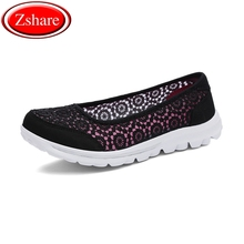 Ballerina Flats Shoes Women 2019 Summer Loafers Ladies Mesh 6 Color Comfort Large Size Flat 35-41 size
