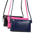 New Fashion Women Shoulder Bags Alligator Grain Messenger Bag PU Leather Crossbody Bags Satchel zipper Handbag Z15
