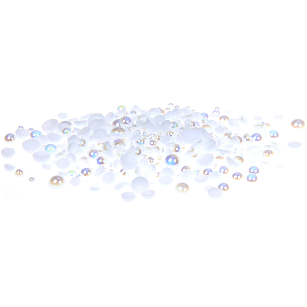 Glue On Resin Beads 8mm 2000pcs/pack 13packs AB Colors Imitation Half Round Pearls For Jewelry Making Decorations new matte gold half round pearls 1 5mm 12mm imitation machine cut flatback glue on resin beads diy jewelry making nail art phone