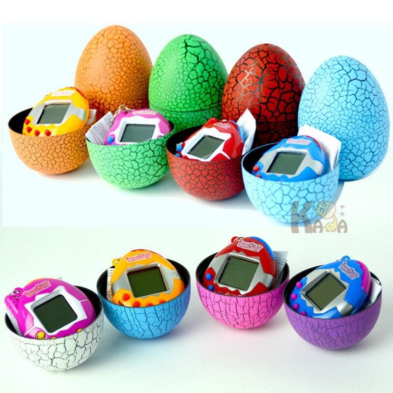 Hot Sale Multi-colors Dinosaur Egg Virtual Cyber Digital Pet Game Toy Tamagotchis Digital Electronic E-pet Christmas Gift