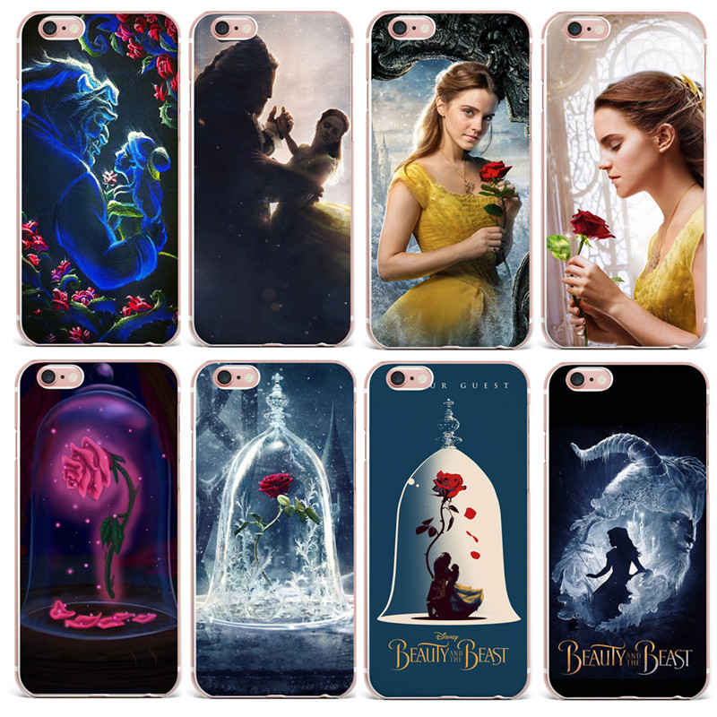 2017 beauty and the beast rose soft tpu case cover for for Housse samsung galaxy s5
