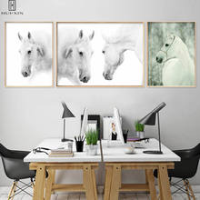 Abstract Canvas Posters Strong White Horses Running Decorative Paintings For Room Restarunt Decoration Wall Art Pictures wall art abstract canvas printing modern posters gorgeous lotus leaf lotus root in lake decorative paintings for home decoration