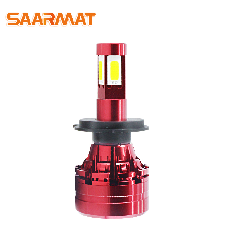 SAARMAT 1*Piece Led motorcycle headlight lamp 8000Lm H4 9003 HB2 High/Low beam car fog lights H7 Built in moto white @12V 24V|  - title=