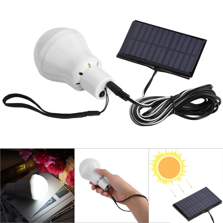 Panel Solar Powered LED Luz Bombilla LED port/átil luz de emergencia interior al aire libre Camp tienda Pesca de iluminaci/ón iluminaci/ón de la l/ámpara