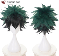 New Arrival My Hero Academia Baku No Hero Midoriya Izuku Short Green Black Cos Wig Heat