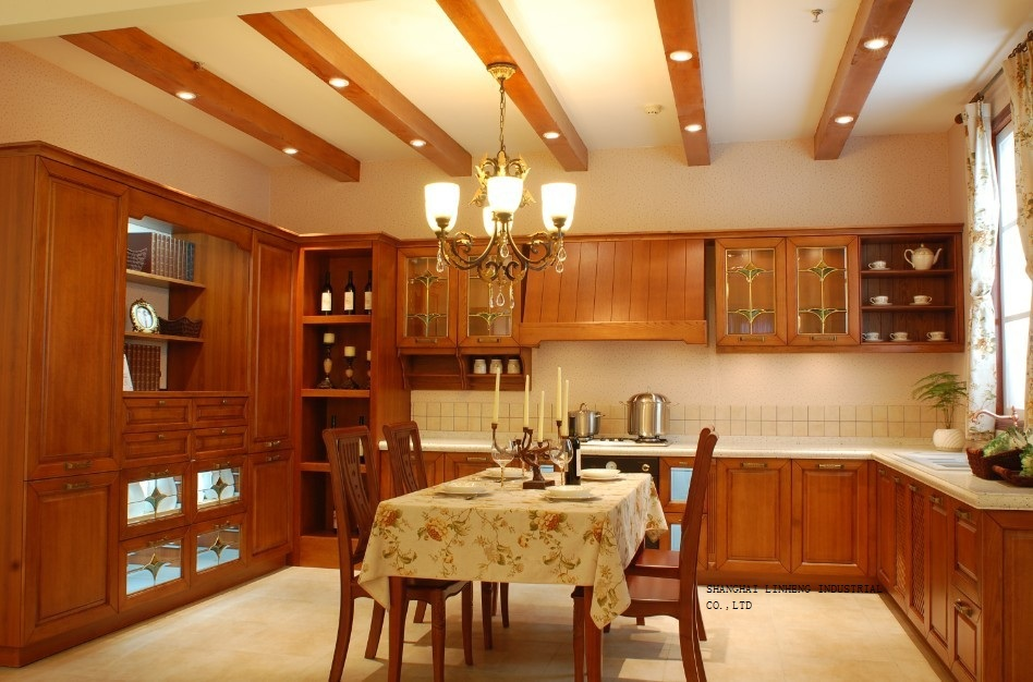 Wooden European Style Kitchen Cabinet Lh Sw053