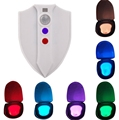 1pcs LED Sensor Motion Activated Toilet Nightlight 8 Colors Waterproof Sterilization Close stool Lamp Night Light Luminaria