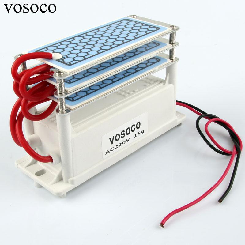 15 g/h Generatore di Ozono Portatile FAI DA TE Ozonizzatore Aria Depuratore di acqua Sterilizzatore macchina di Ozono per il trattamento Formaldeide scavenging 220 v