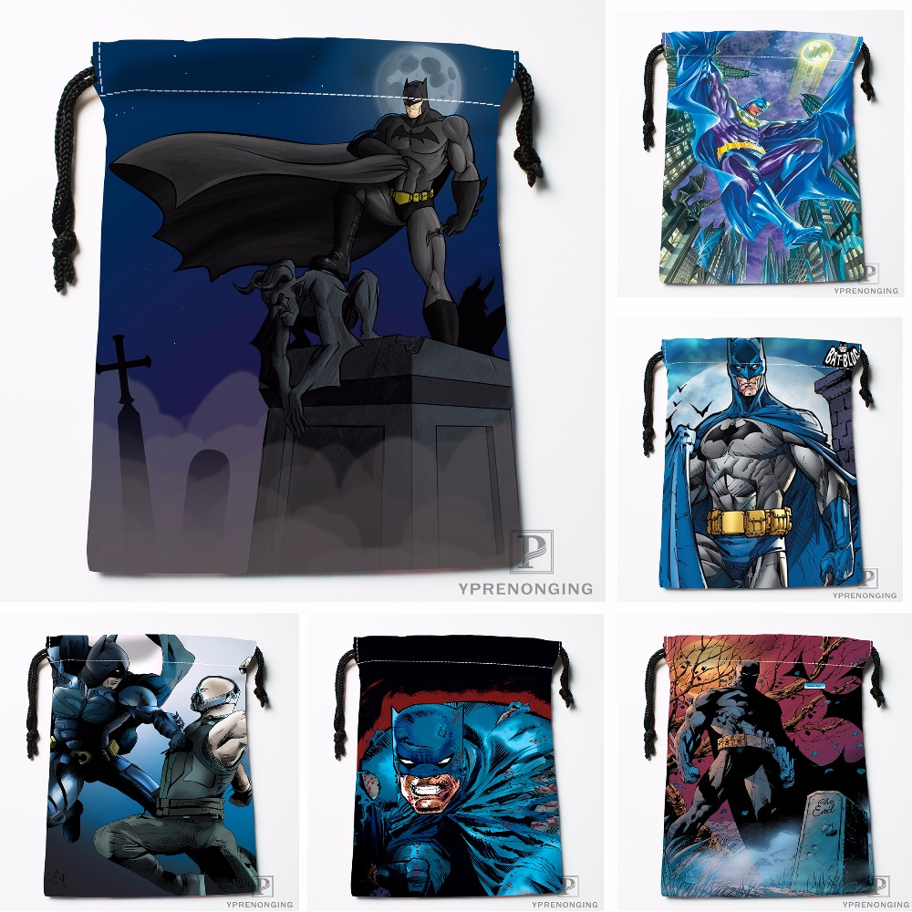 Custom Superman Batman Drawstring Bags Travel Storage Mini Pouch Swim Hiking Toy Bag Size 18x22cm#0412-04-23