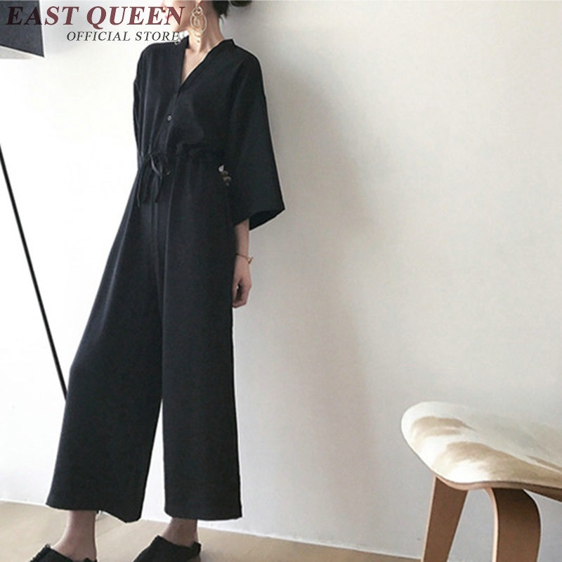 New arrival wide leg women jumpsuit big size jumpsuit women elegant ladies causal business jumpsuit women 2017 AA2174 SQ