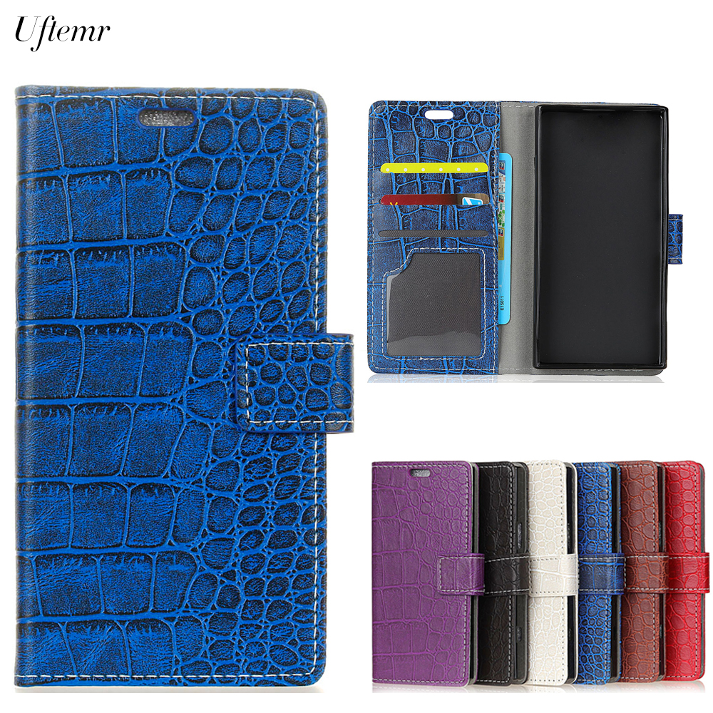 Uftemr Vintage Crocodile PU Leather Cover For Doogee BL5000 Protective Silicone Case Wallet Card Slot Phone Acessories