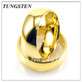 Wholesales Cheapest Price 10 pieces /lot Free Shipping 8mm Tungsten new Gold Plating color Men's Ring Classic Wedding Ring