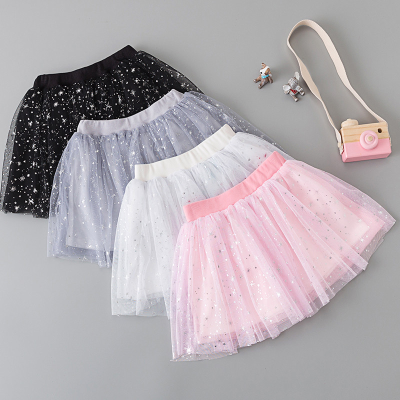 20b48661e89be Detail Feedback Questions about Multilayer 2018 Children s Skirts Kids Baby  Girl Tulle Tutus Star Print Party Dance Cake Tutu Skirts Girls Princess  Skirt ...