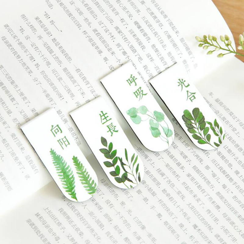 Creative Exquisite Plant Magnetic Bookmark Small Fresh Student Book Folder Flip Book Children'S Gift Stationery Office Supplies