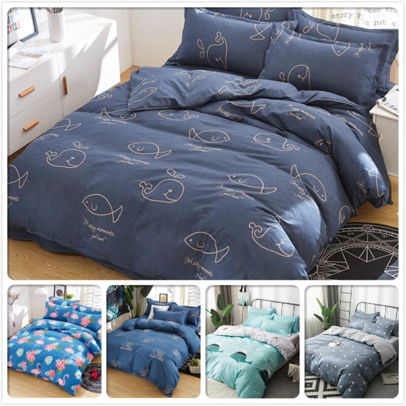 Power Source 2.3m 2.2m 2m 1.8m 1.5m 1.35m Bedding Set Soft Cotton Bedlinens Big Size Double King Queen Single Size Bed Linen Duvet Cover Suit Exquisite Craftsmanship;