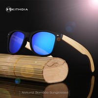 KITHDIA Men Women Wooden Polarized Sunglasses Bamboo Wood Temple Outdoor SunGlasses Sport Goggles Sunglass Oculos Masculino