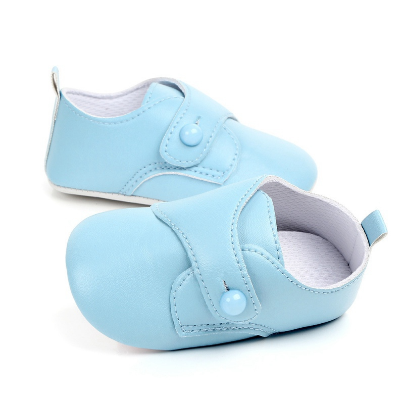 New Fashion Pu Leather First Walker Baby Boys Girls Shoes Solid Soft Sole NO-Slip Prewalkers Newborn Infant Toddler Footwear