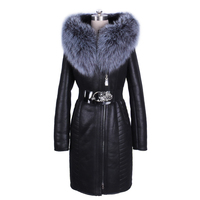 Завод прямые поставки зиму Большой размер модные натуральным Пояса из натуральной кожи лиса Мех животных воротник толщиной Искусственный